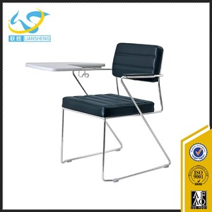 Fashion OEM service chair fixed frame training chair with tablet