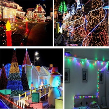 2016 Waterproof 10M 50LED Solar String  Fairy White Lights Solar Panel For Party Xmas Outdoor Garden Tree Decoration Lamp