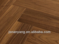factory price American Walnut wood engineered parkett flooring with CE,ISO,FSC certifications
