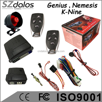 Genius one way car alarm system , alarma para carro for colombia