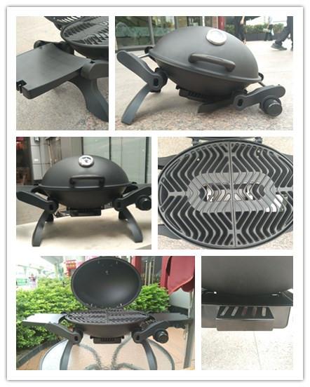 ronda barbacoa parrilla de gas con patas plegables y mesa auxiliar para el exterior cocina
