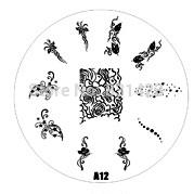 2015 new A Series A12 Nail Art Polish DIY Stamping Plates Image Templates Nail Stamp Stencil