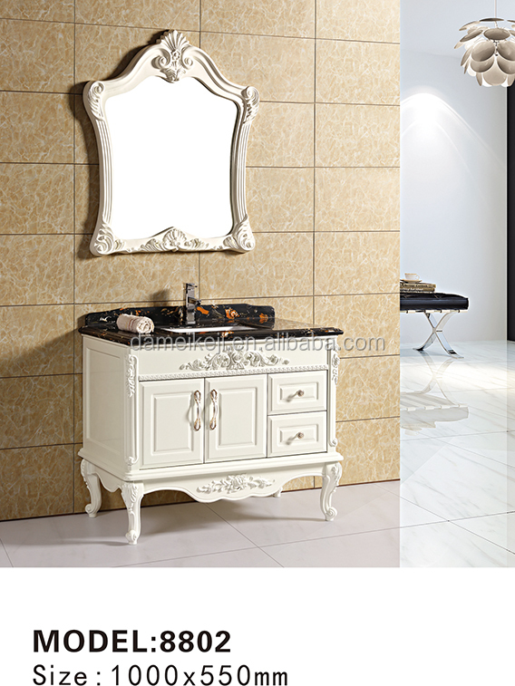 Floor Mounted Embossed Pattern Bathroom vanity with Phoenix Stone Top