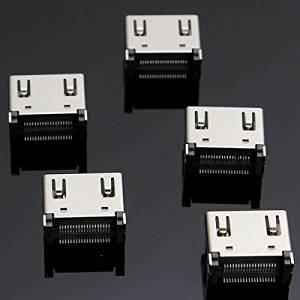 Pink Lizard 5X19 Pin HDMI Female Jack SMT Surface Mount Video Connector