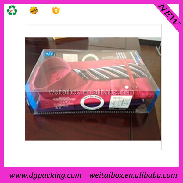 Clear PP PVC PET shirt boxes&custom plastic blouse boxes with lids