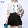wholesale women t shirt summer fashion casual new sleeve embroiery ladies button up shirts