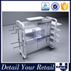 china supplier metal and wood model moving display railing stand for clothes