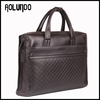 Classical design genuine leather men's briefcase