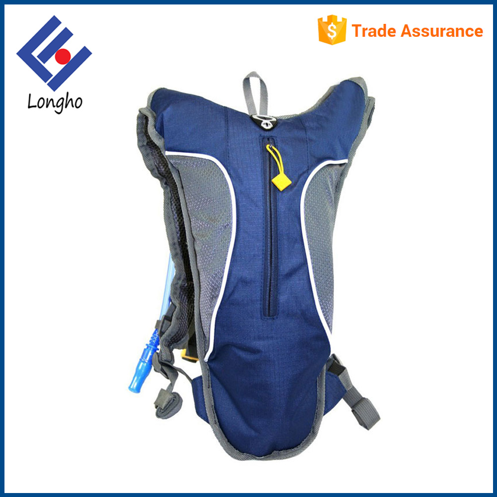 China factory zipper front pocket hydration pack 2l padded ventilated back cycling water backpack bag
