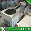110 V KN-2D10A ice cream machine price double square pan with 10 Cold Toppings