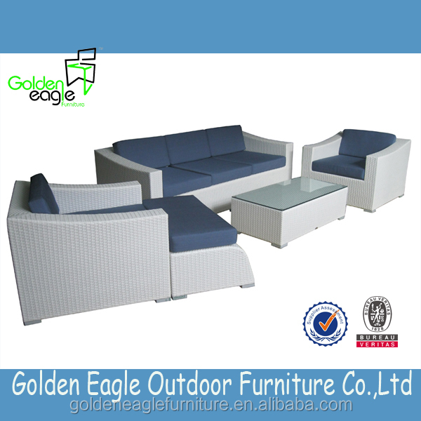 Elegant & beautiful rattan furniture sofa set with good quality uv-resistant ratan and waterproof cushion