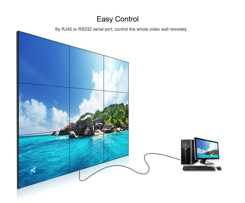Lcd video wall controller for lcd videowall display 1920x1080 input  Foretell, View lcd video wall controller, FT Product Details from Shenzhen