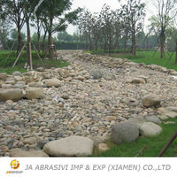 Small decoration white pebble tile stone