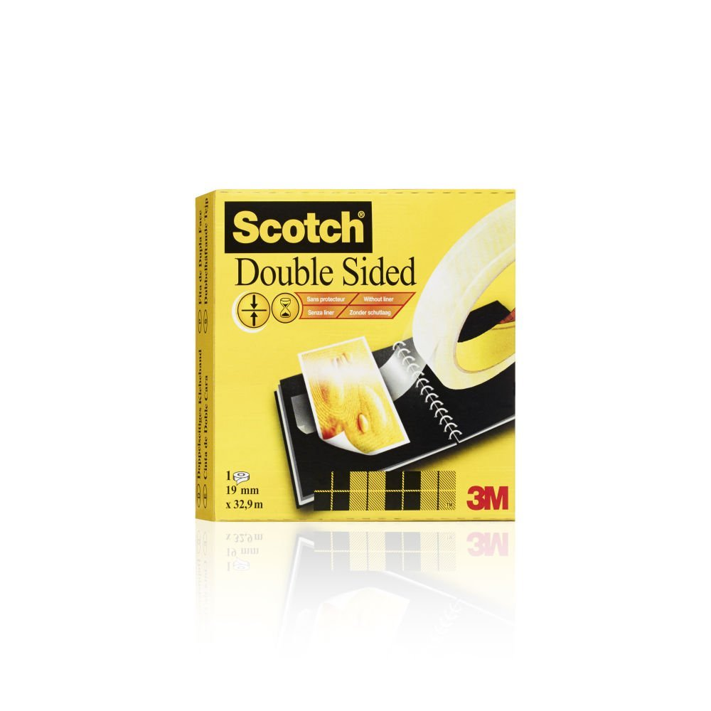 Scotch Double-Sided Tape, 19mm x 33m, 1 Roll
