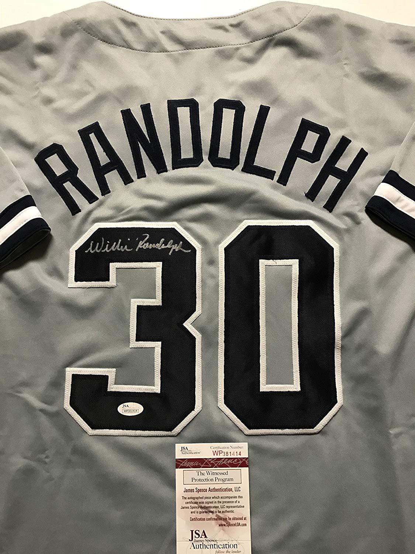 Get Quotations · Autographed Signed Willie Randolph New York Grey Baseball Jersey  JSA COA 40a05b9b1