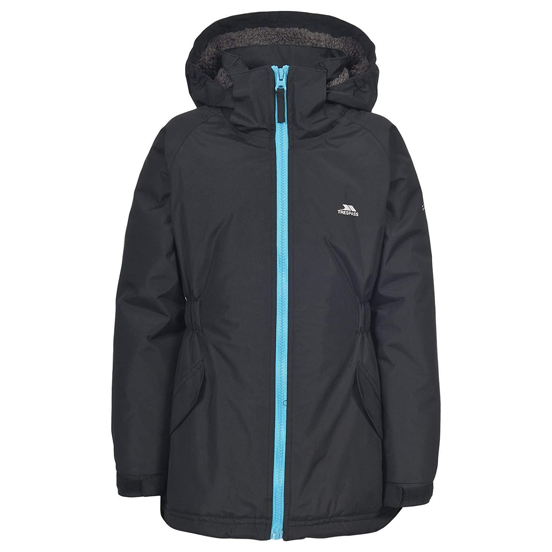 1989d97f8cb1 Trespass Wonder Kids Waterproof Hooded Rain Coat Warm Padded Windproof  Jacket
