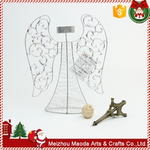 OEM manufacture sale metal crafts christmas candle holder ornaments