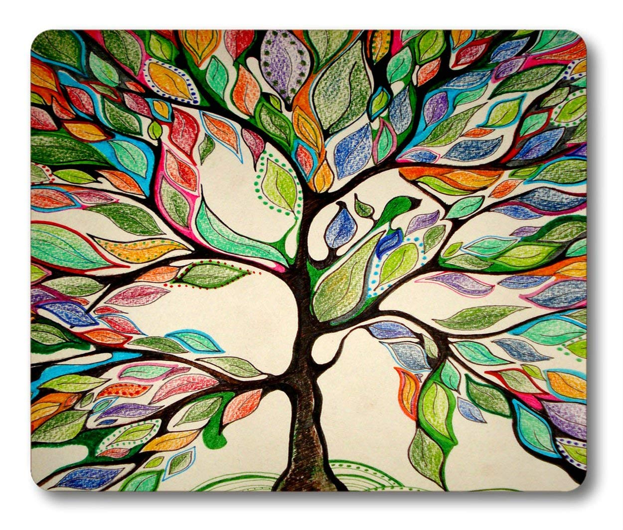 5073524941f Get Quotations · Smooffly Tree Gaming Mouse Pad,Tree Of Life Non-Slip  Rubber Mouse pad Gaming