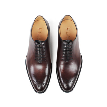 c5c9420f9ba9 VIKEDUO China Hand Made Patina Designer Shoes Men Famous Brands Brogues  Oxfords Red Sole Men Dress