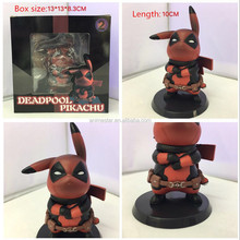New arrival cute action figure Pokemon Red Angry DEADPOOL PIKACHU Anime Figure