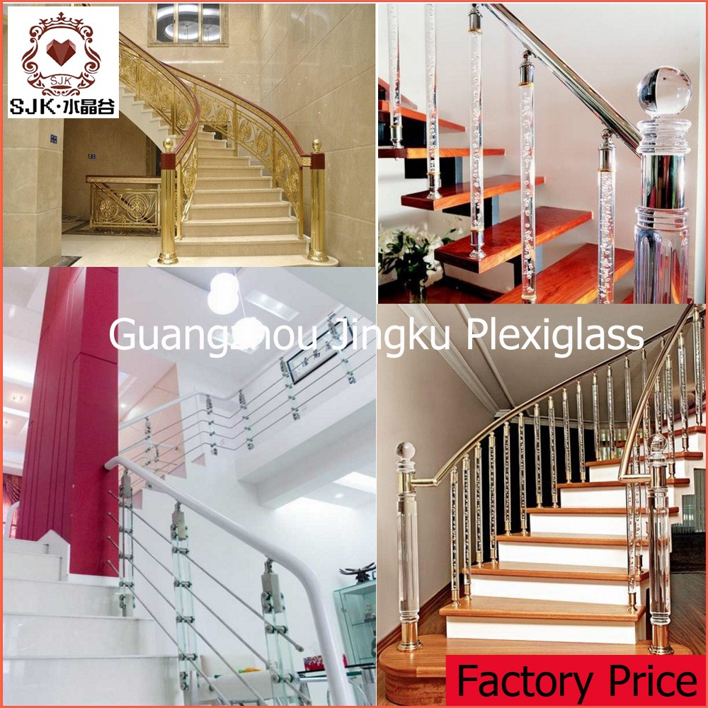 plastic handrail cover acrylic staircase column acrylic stair railing interior column covers. Black Bedroom Furniture Sets. Home Design Ideas