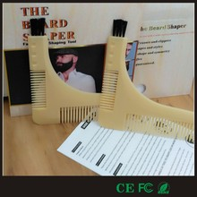 Excellent quality eco-friendly plastic beard shaper comb with brush