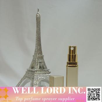 France Romance Love Gold Frost Metallic Made Handbag Perfume Bottles