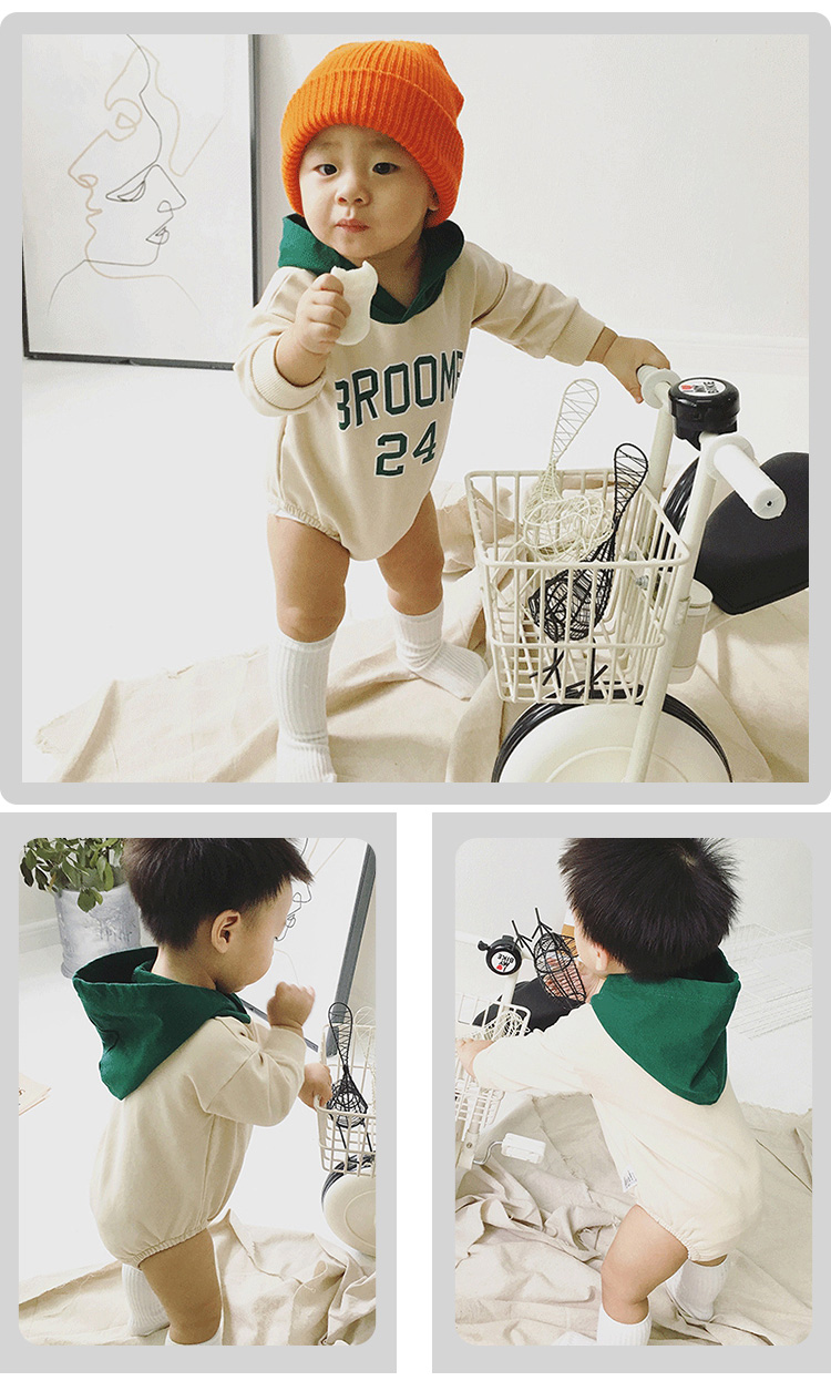 Custom made autumn winter long sleeve unisex baby born clothes thicken baby romper baby bodysuit 2256