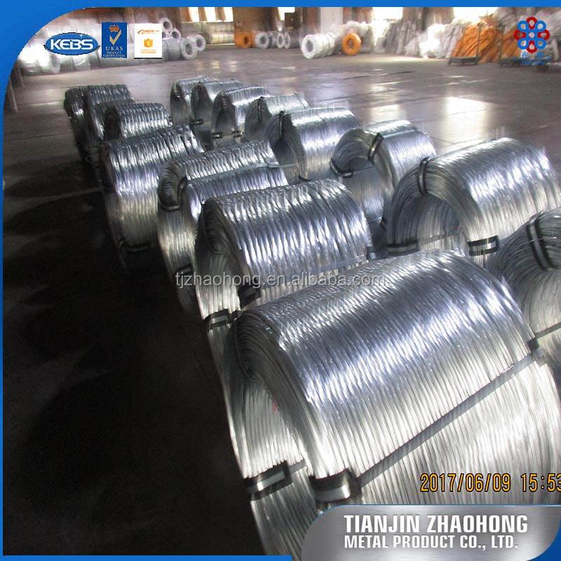 Galvanized steel wire rope for various control cables , hot dipped galvanized wire from Tianjin