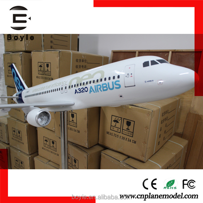 Large Size Simulation Handmade 120CM 1: 30 320 neo Airbus large scale model airplanes with logo
