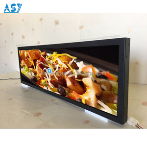 28.6 Inch Ultra Wide LCD Screen LED display in renoved trains for Advertising display