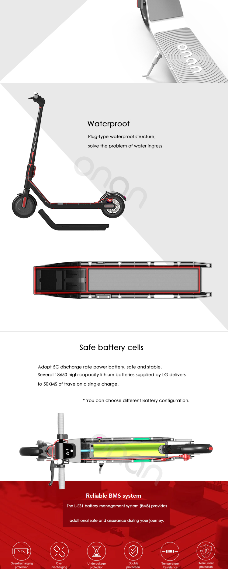 euro design high quality turkey electric scooter for sale