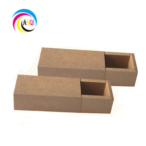 New design creative small customized packaging brown kraft gift drawer paper box with slide out