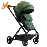 baby stroller one hand fold / aluminum hand folding stroller with sleeping basket / high landscape stroller