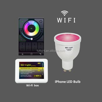Wireless Led Spot Light Gu10 Bulb 4w Rgb Color Changeled Lamp ...