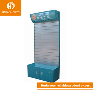 Game machine cardboard display stand with heavy duty metal pegboard for small digital goods