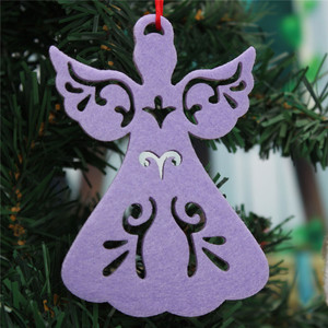 Cute design angel medallion personalized handmade hanging christmas angel ornament