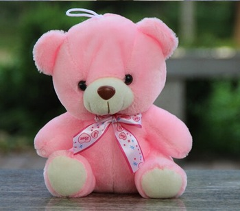 cute teddy bear doll small pink bear sitting teddy bear plush toys