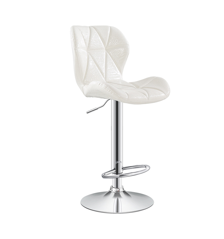 White Leather Bar Stool, White Leather Bar Stool Suppliers And  Manufacturers At Alibaba.com