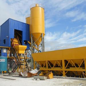 HZS 35 concrete batching plant used cement silos for sale