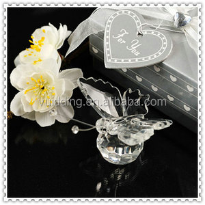 Lovely Cheap Crystal Glass Butterfly Wedding One Dollar Gifts