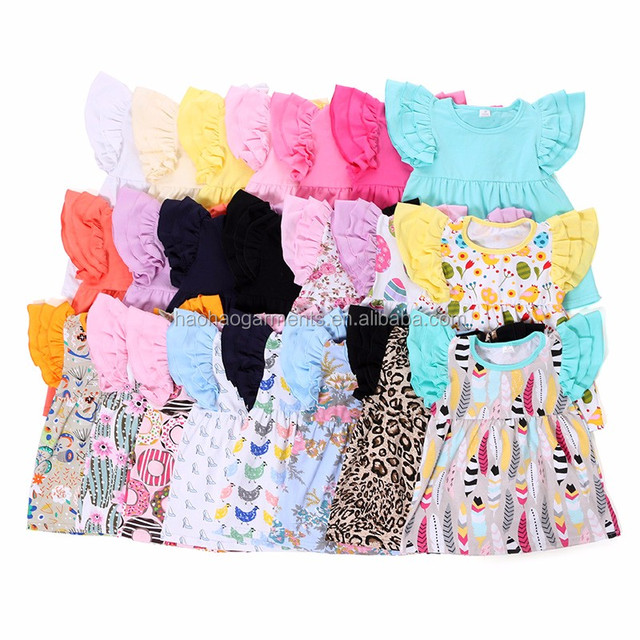 3 Layers Ruffle Shirts Wholesale Mulitple Colors Kids Girl Icing Pearl Top