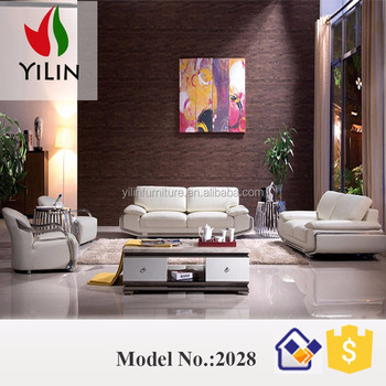 White Modern New Design Sofa Section Furniture Leather With Stainless Steel  Armrest For Big House - Buy Dubai Leather Sofa Furniture,Large Leather ...
