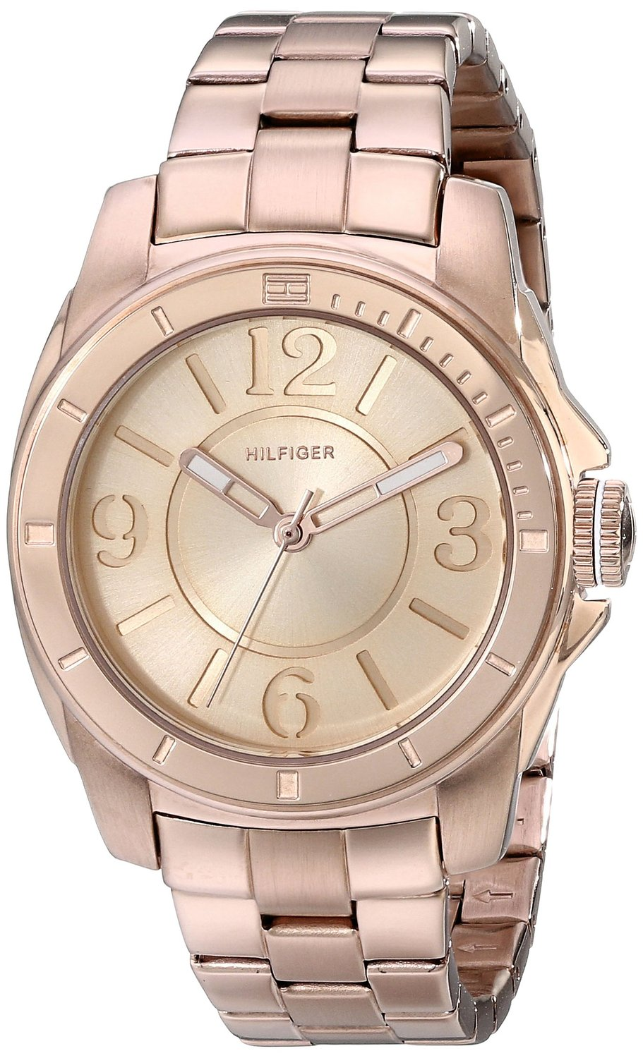 70389ce43 Tommy Hilfiger Women's 1781141 Sport Rose Gold Plated Stainless Steel Bracelet  Watch