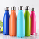 china bulk items glossy painting stainless steel vacuum insulated cola bottle with steel lid