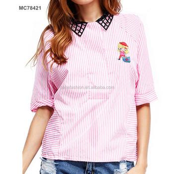 Wholesale Korean Style Tassel V Nack Cute Ladies Smart Tops Crop