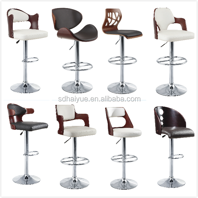 2017 Modern Wooden design bar stools, a great choice for commercial bars and cafes