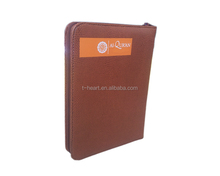 PU Leather book cover with zipper for big size quran