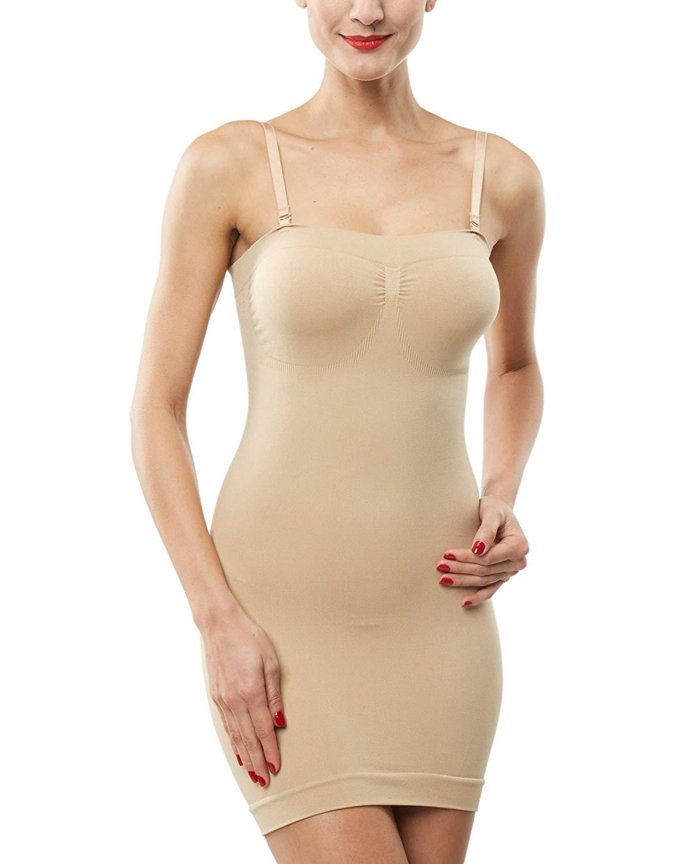 b572cb98532 Get Quotations · Belugue Women s Control Slip Shapers Shapewear Dress Full  Body Shaper