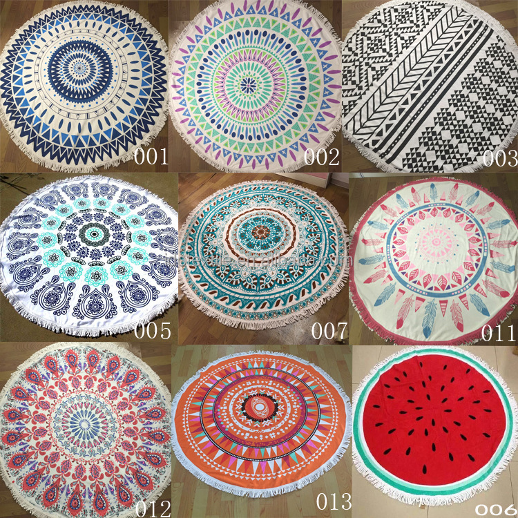 China products mandala the beach people majorelle round towel